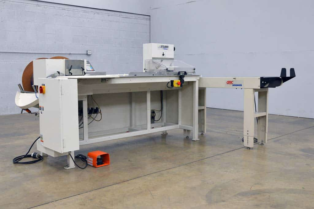 Gbc stl1000 twin loop binding machine w conveyor boggs for Loop binden