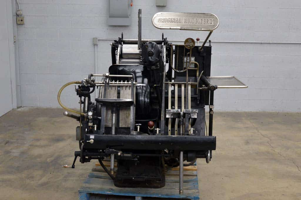 Original Heidelberg Letterpress Boggs Equipment