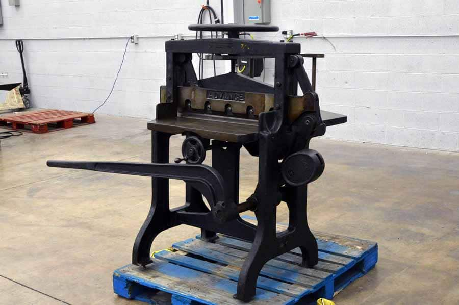 Vintage Challenge Advance 26 1 2 Inch Paper Guillotine
