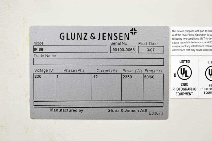 Glunz & Jensen InterPlater 66 Plate Processor