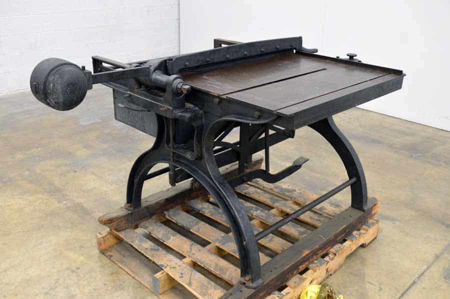 J. Jacques & Son Counter Weight Paper Cutter