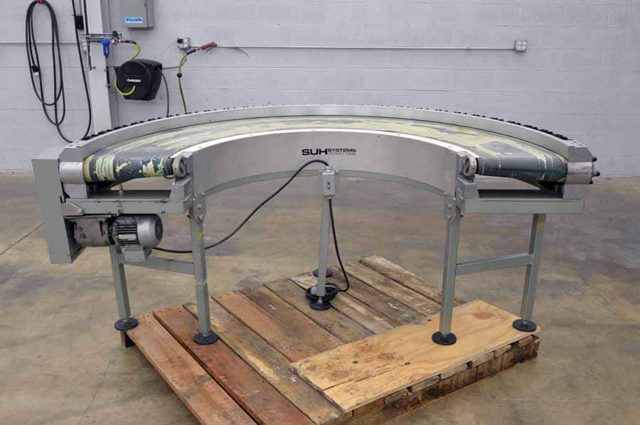 SUH Systems Model 01-640 180 Degree Belt Type Conveyor