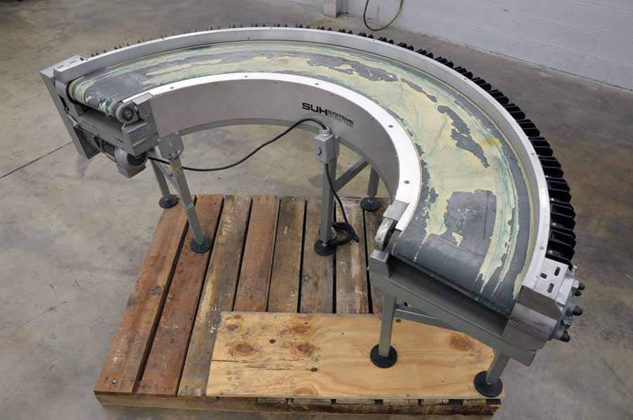 SUH Systems Model 01-640 180 Degree Belt Type Conveyor