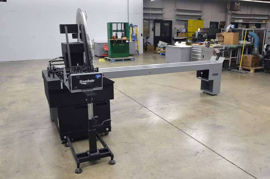 Secap Jet 1 Tabber Labeler Stamper w/ Streamfeeder and Buskro Conveyor