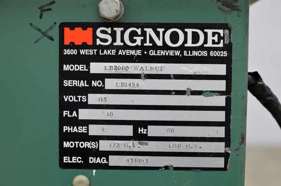 Signode LB 2000 Walkup Case Strapper