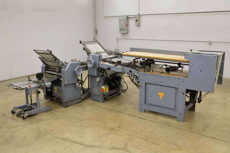 Stahl T 52/4 Paper Folder w/ Right Angle and Roll Away Delivery