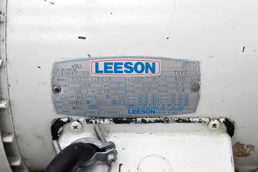 Trivac D90A Vacuum Pump w/ Leeson Motor