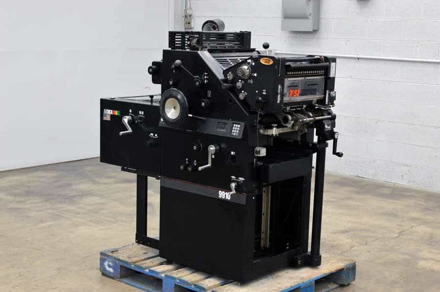 AB Dick 9910 Two Color Printing Press w/ AE T-51 2nd Color Head