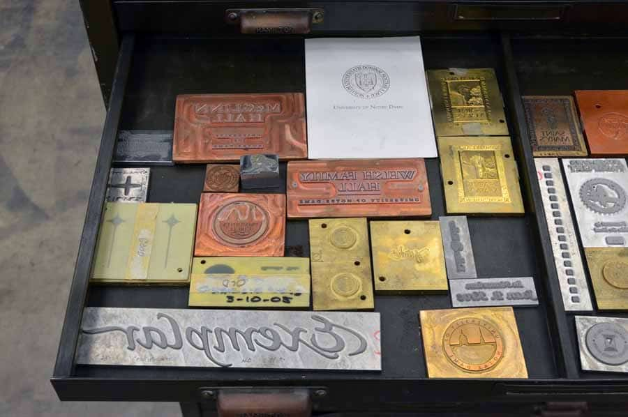 Hamilton Cabinet with Assorted Letterpress Dies
