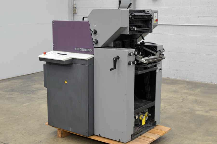 1997 Heidelberg QM 46-2 Quickmaster Two Color Printing Press