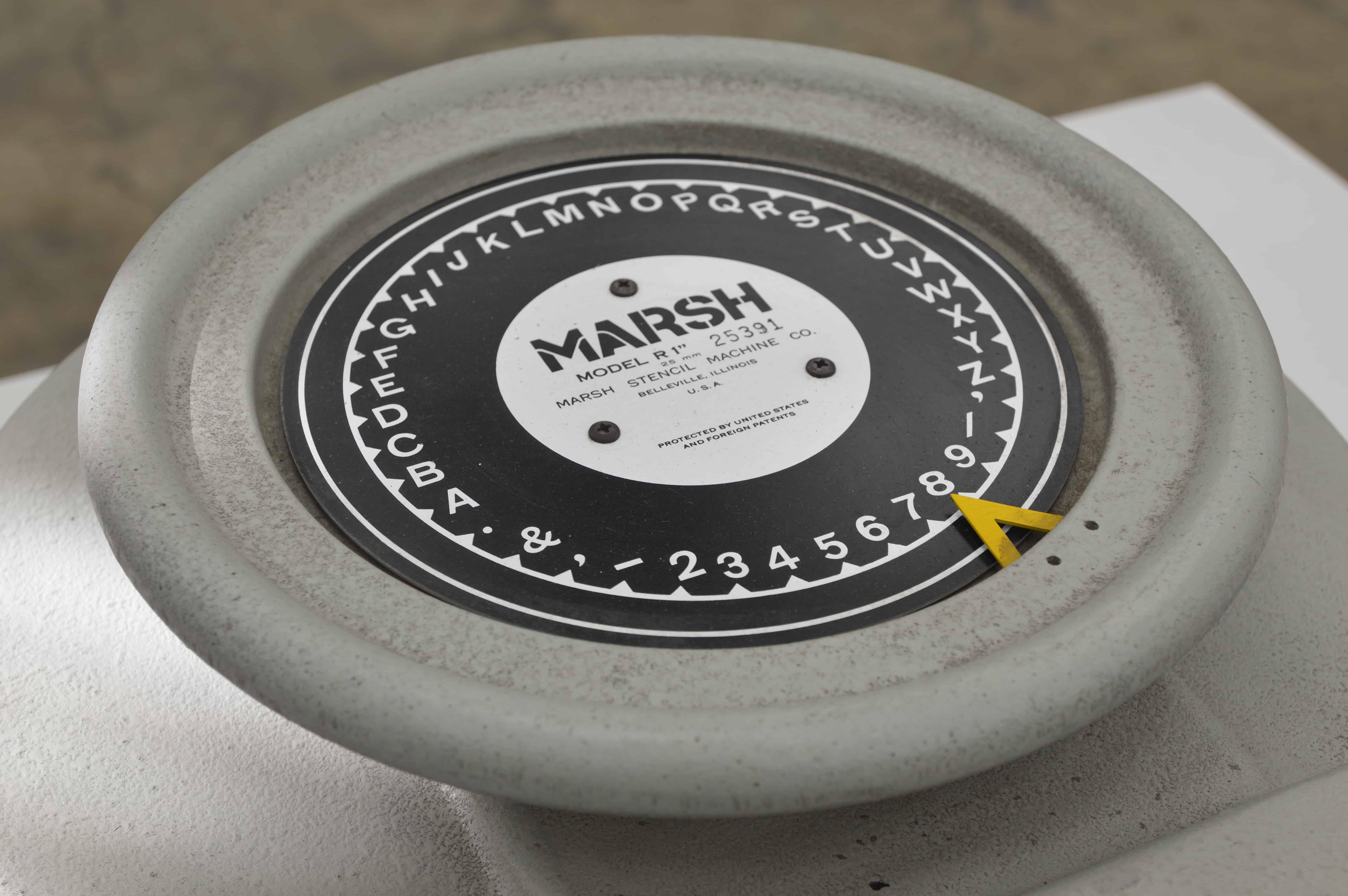 marsh stencil machine
