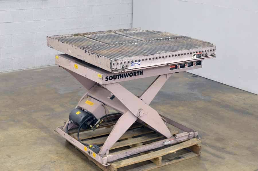 Southworth hydraulic backsaver lift table lbs southworth products ecoa zl zero lift tables southworth ls6 greentooth Gallery