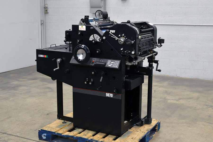 AB Dick 9870 Offset Press with T-51 2nd Color Unit