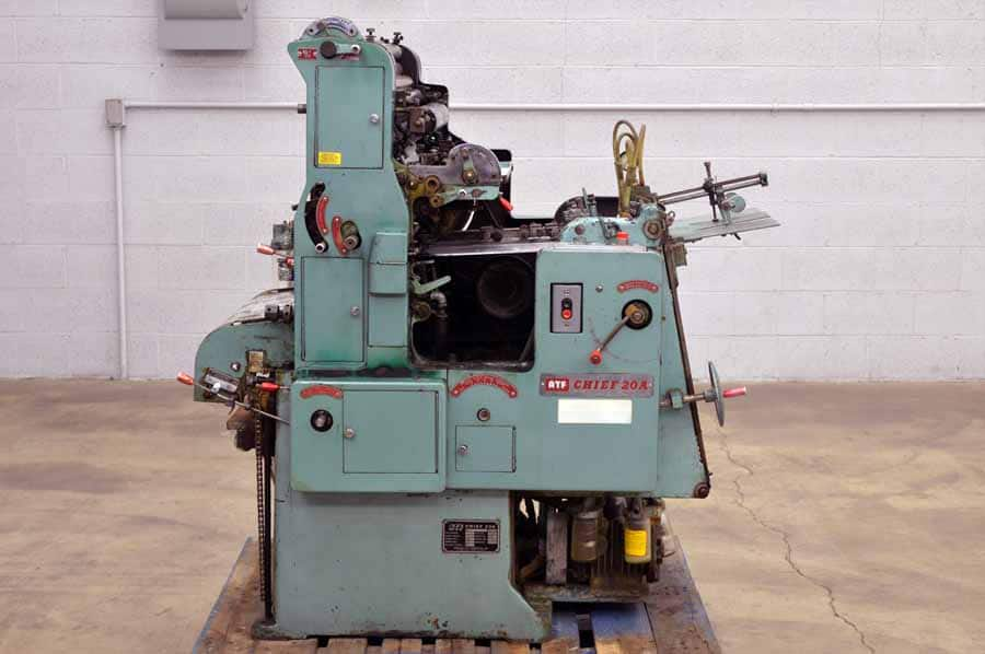 ATF Chief 20A Single Color Offset Printing Press