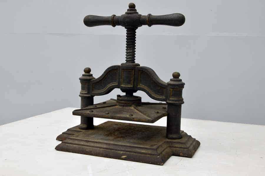Antique Book Press Boggs Equipment