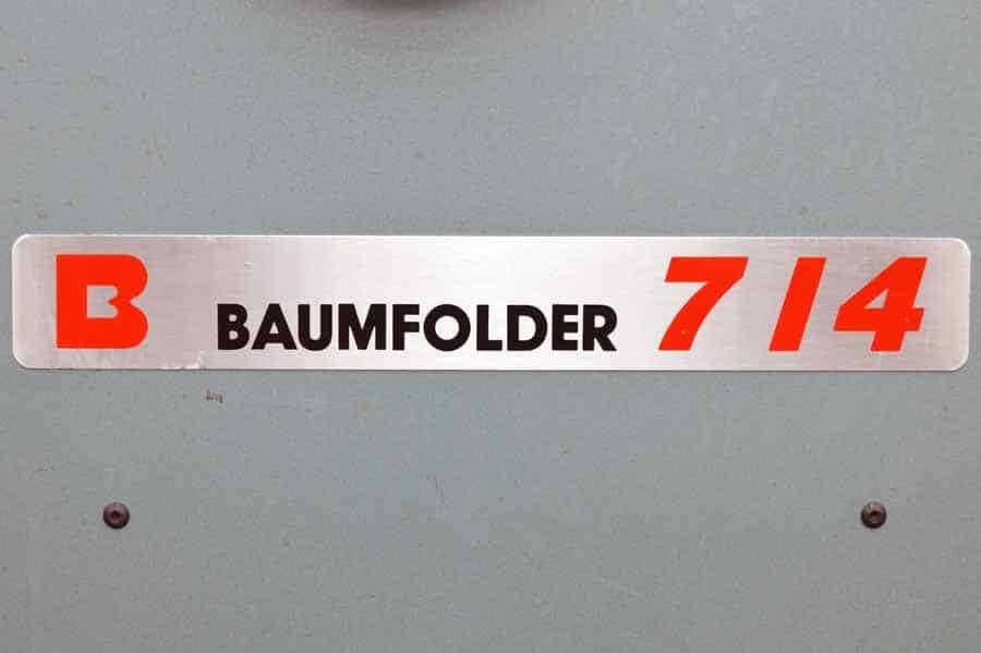 Baumfolder 714 14 x 20 Paper Folder