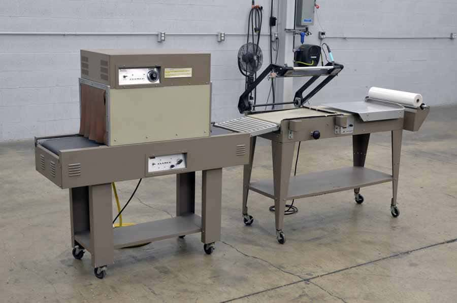 Clamco 770 Heat Sealer with Tunnel Shrink Wrapping System