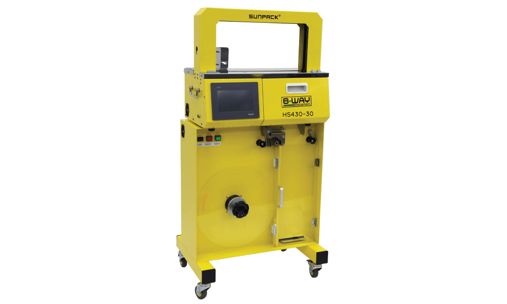 HS 430-B High Speed Banding Machine with High Capacity Feeder Base