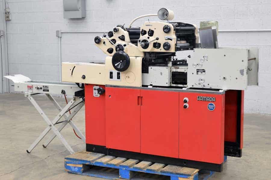 Hamada 600 CDA Two Color Envelope Press with Hamada 60 Conveyor