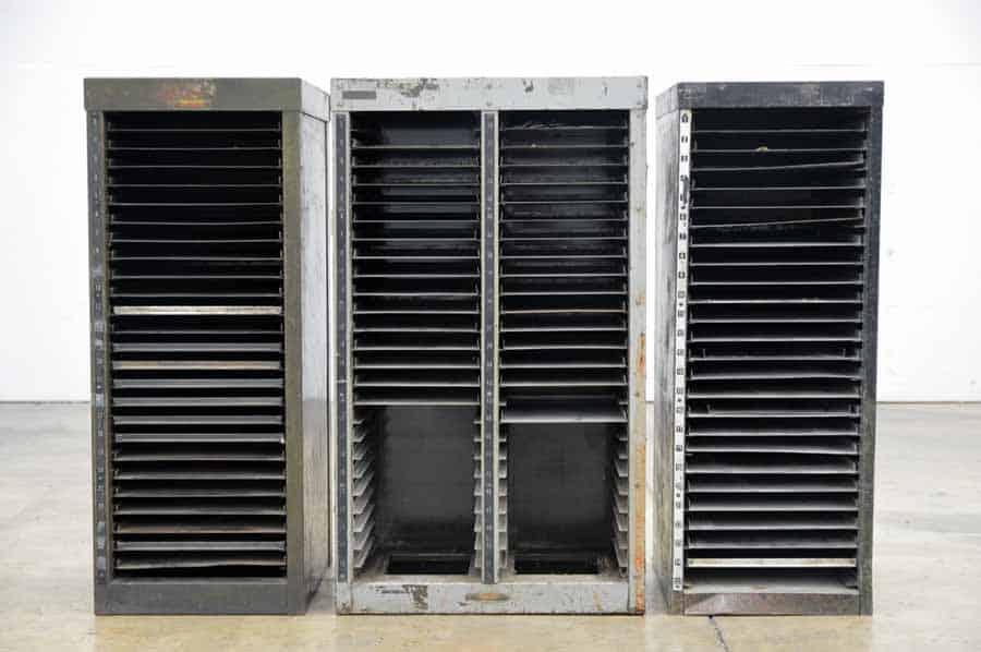 Three Hamilton Galley Cabinets