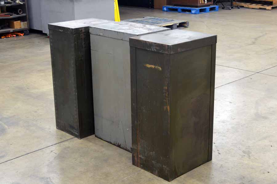 Three hamilton galley cabinets boggs equipment for Galley kitchen cabinets for sale