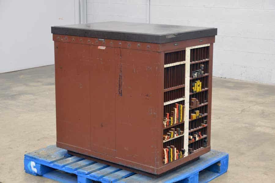 Hamilton Steel Top Letterpress Cabinet - Assorted Wood Furniture