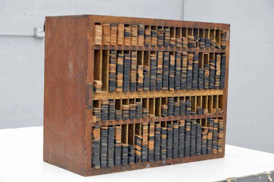 Hamilton Wooden Furniture Cabinet with Wooden Letterpress Furniture
