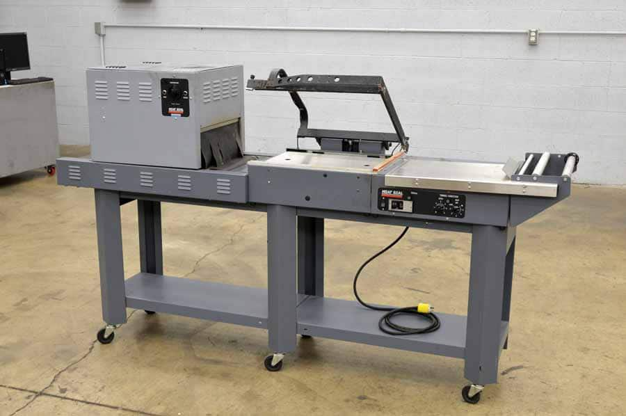 Heat Seal L-Bar Wrapper and Heat Tunnel Shrink Wrap System