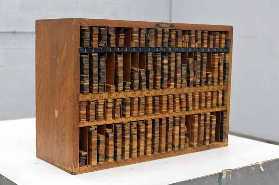 Thompson Wooden Furniture Cabinet with Wooden Letterpress Furniture
