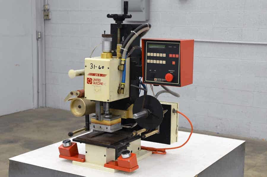United Silicone Model US-5 Hot Stamping Machine