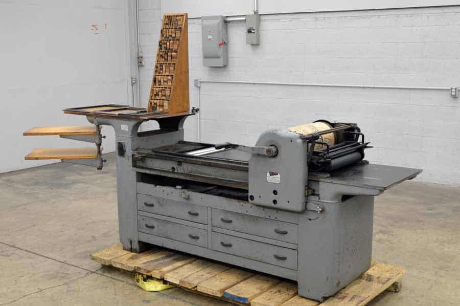 Vandercook No. 219 Proof Press