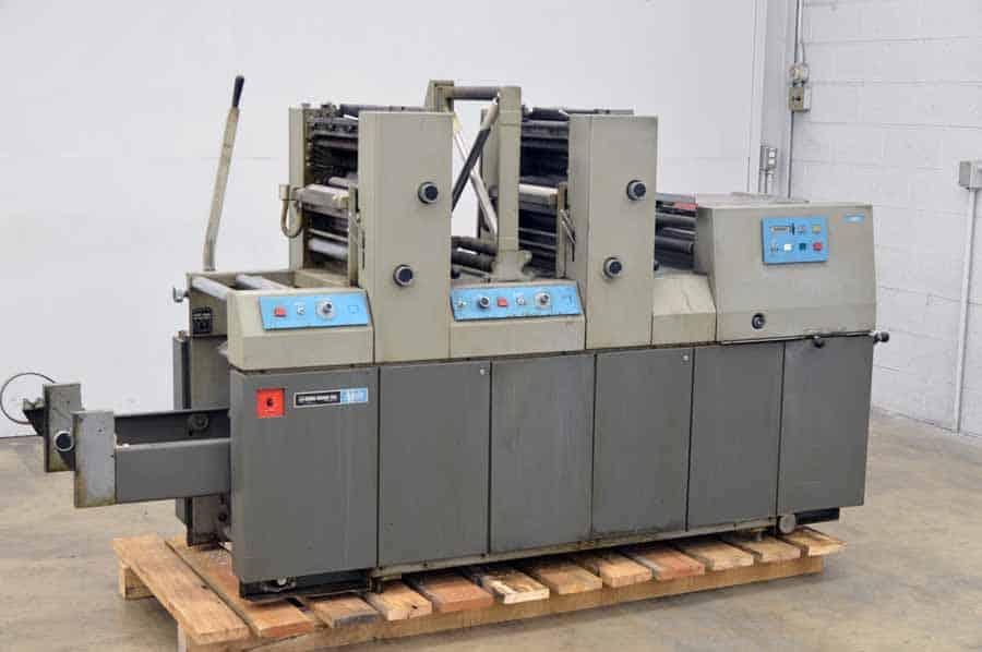 Didde-Glaser P-002 Two Color Offset Press