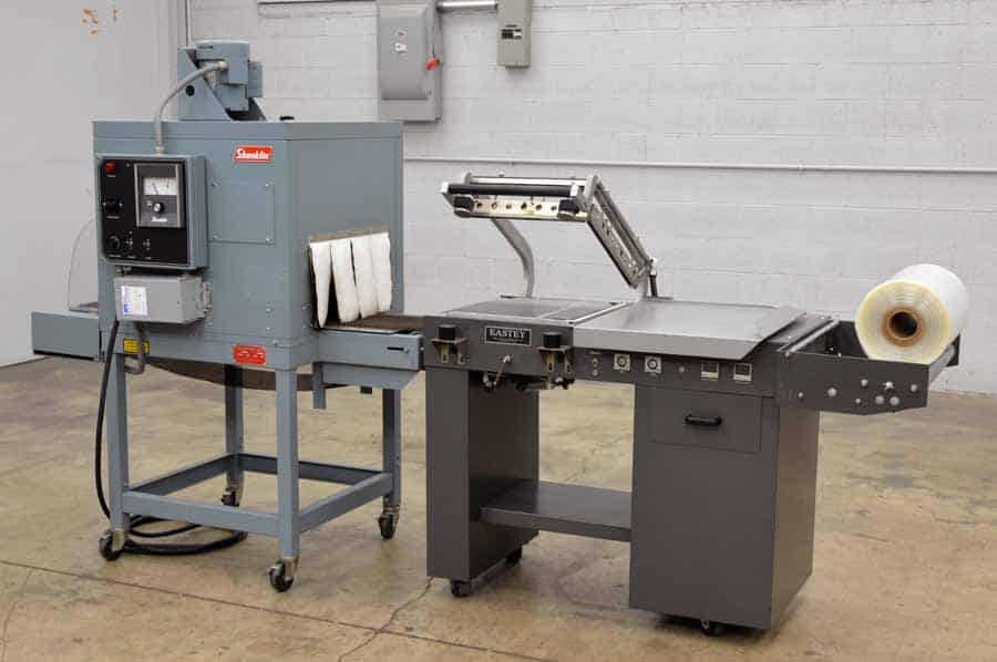 Eastey L-Bar Heat Sealer with Shanklin Shrink Tunnel - Shrink Wrap System