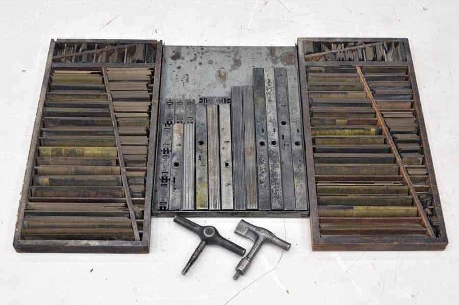 12 High Speed Quoins and Assorted Metal Furniture