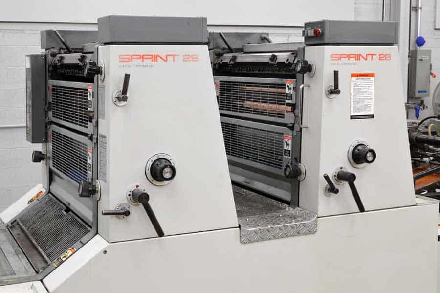 Komori Sprint S 228P Two Color Offset Press