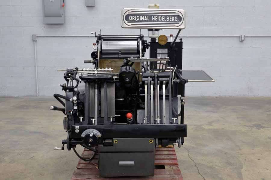 Original Heidelberg 10 x 15 Red Ball Windmill Letterpress