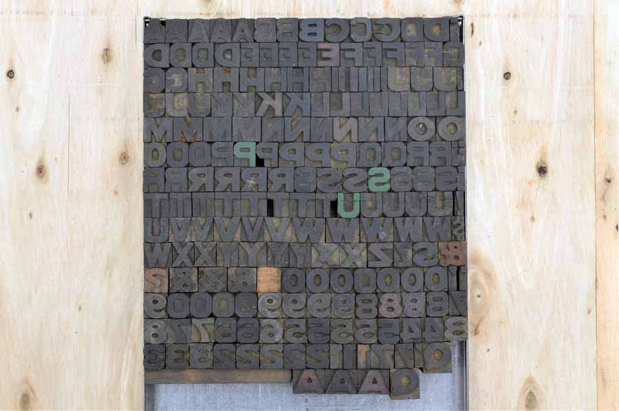 Wood Type - Complete Font - All Capitals