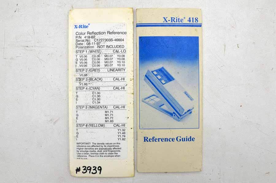 X-Rite 418 Densitometer