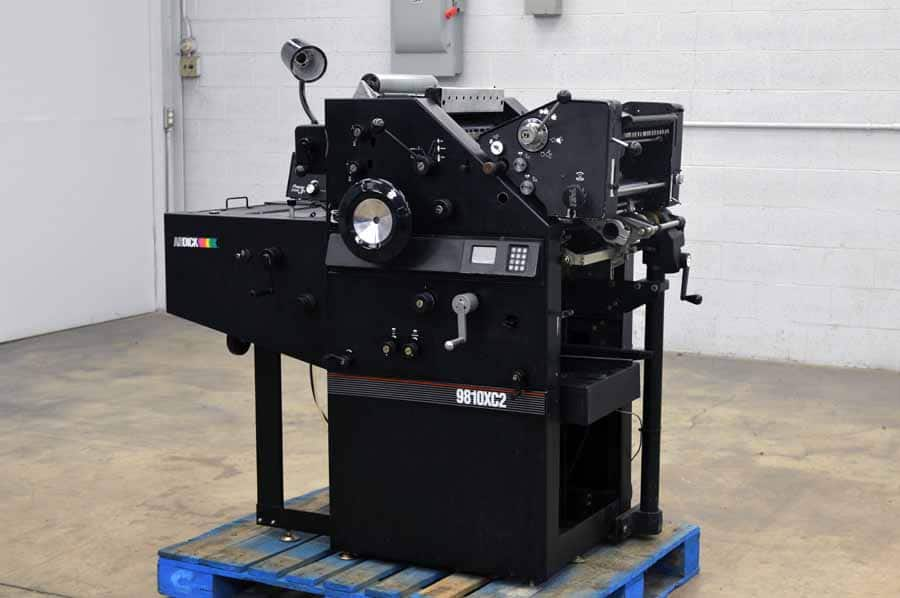 Ab Dick 9810 Xc2 Two Color Offset Printing Press Boggs