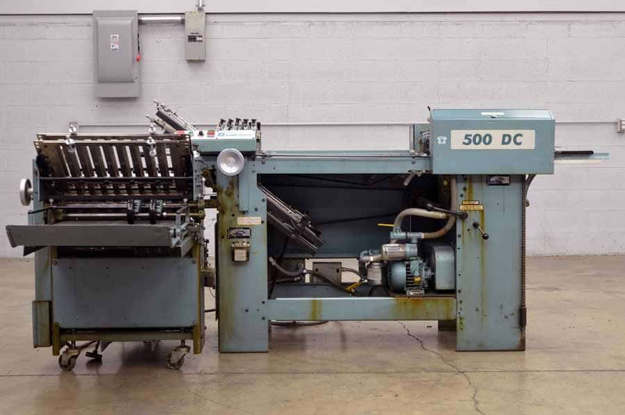 Baumfolder 500 DC Paper Folder with Right Angle and Pile Feed