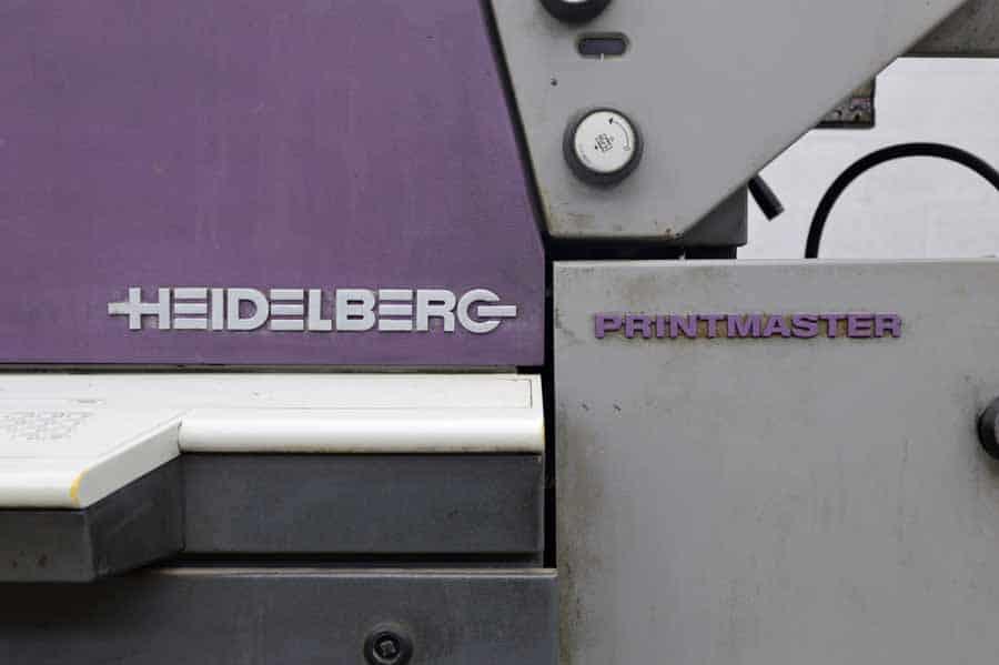 1999 Heidelberg Printmaster Two Color Printing Press