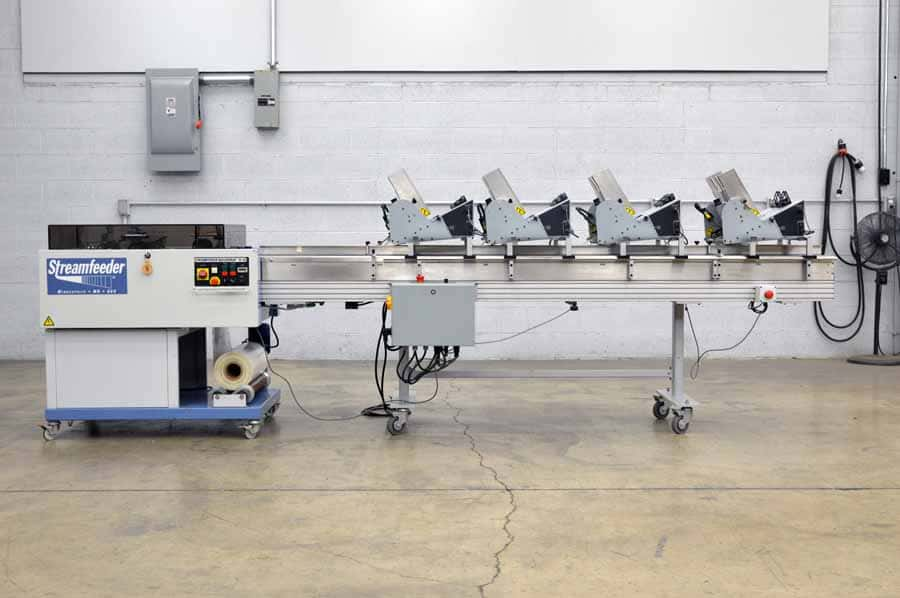 2002 Streamfeeder Quickwrap H-50-4 - Four Feeder Polybag System