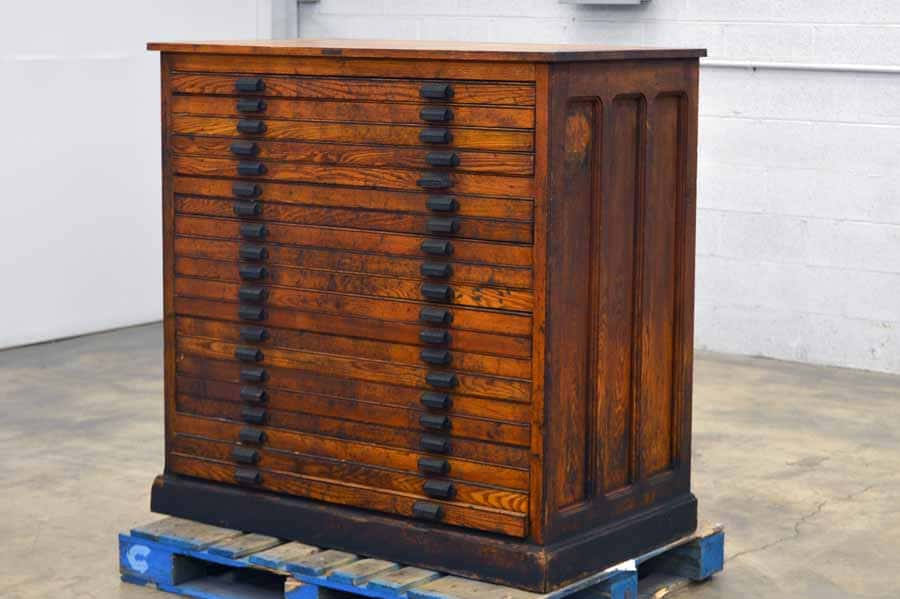 Tubbs Type Cabinet with Assorted Wood Furniture