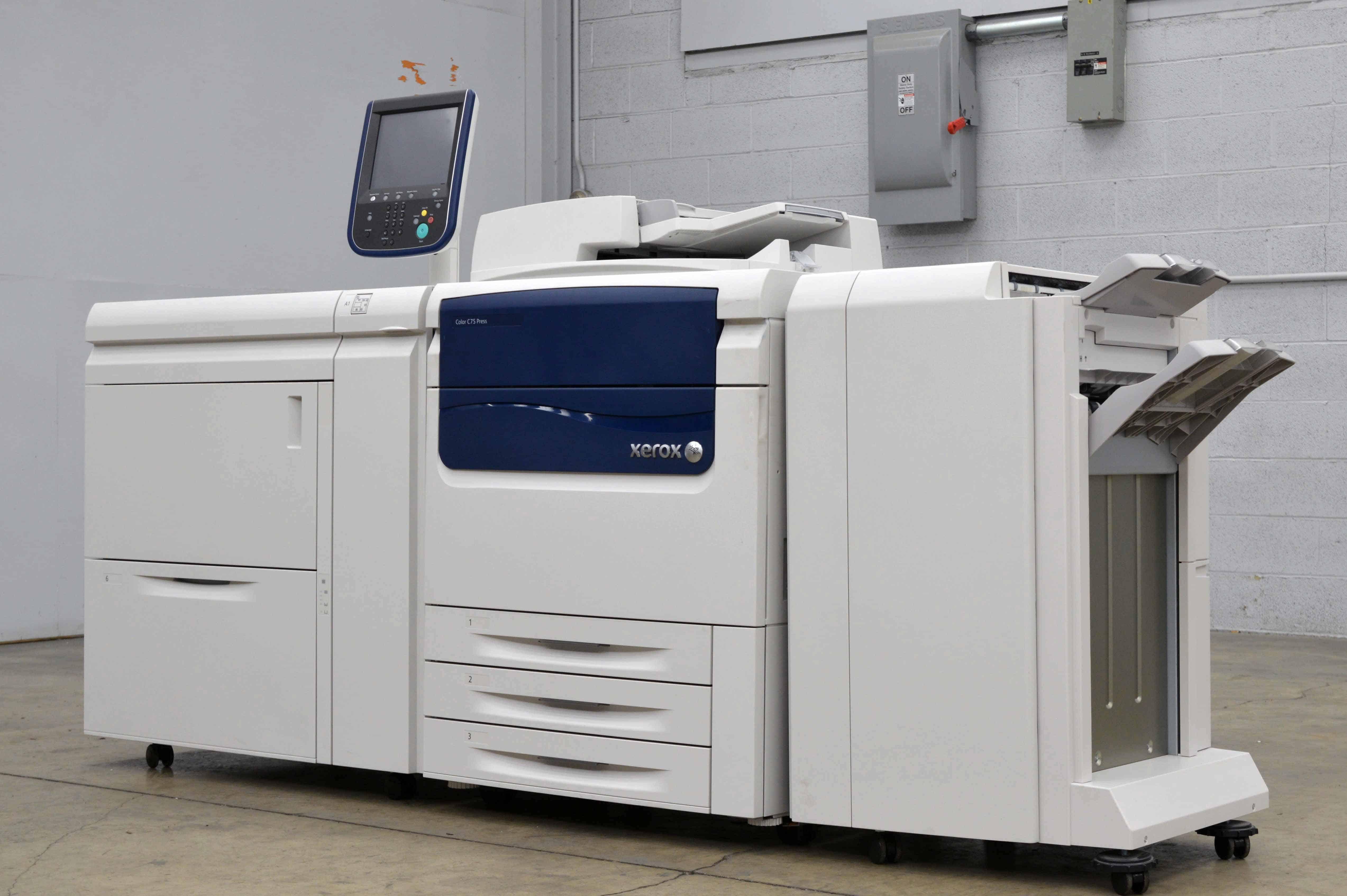 Xerox Color C75 Press Color Copier Boggs Equipment