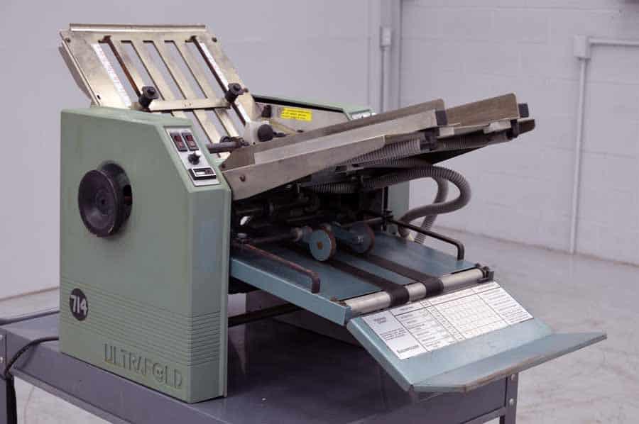 Baum Model 714 Ultrafold Air Fed Paper Folder
