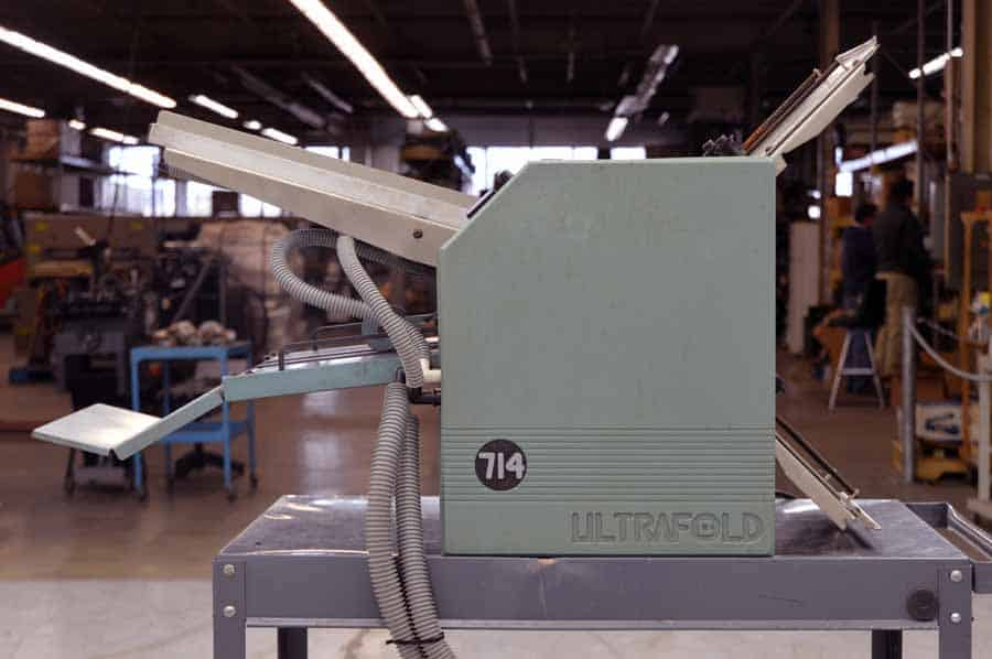 Baum Model 714 Ultrafold Air Fed Paper Folder