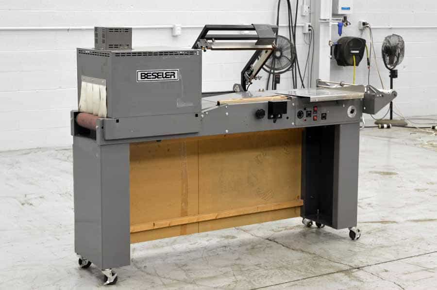 Beseler L-Bar Sealer with Heat Tunnel Shrink Wrap System