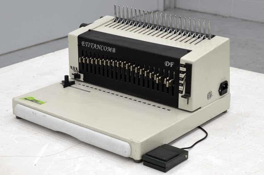 E Titan Comb Heavy Duty Electric Comb Binding Machine