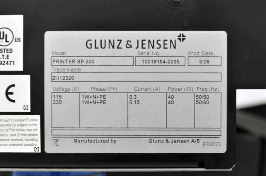 Glunz and Jensen PlateWriter 4200 Computer to Plate System