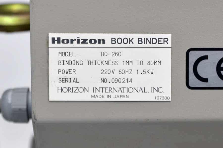 Horizon BQ-260 Perfect Binder